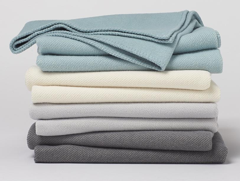 Organic cotton - merino wool blanket