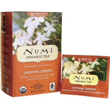 Jasmine green tea from Numi (other flavors from Nummi also aren't problematic)