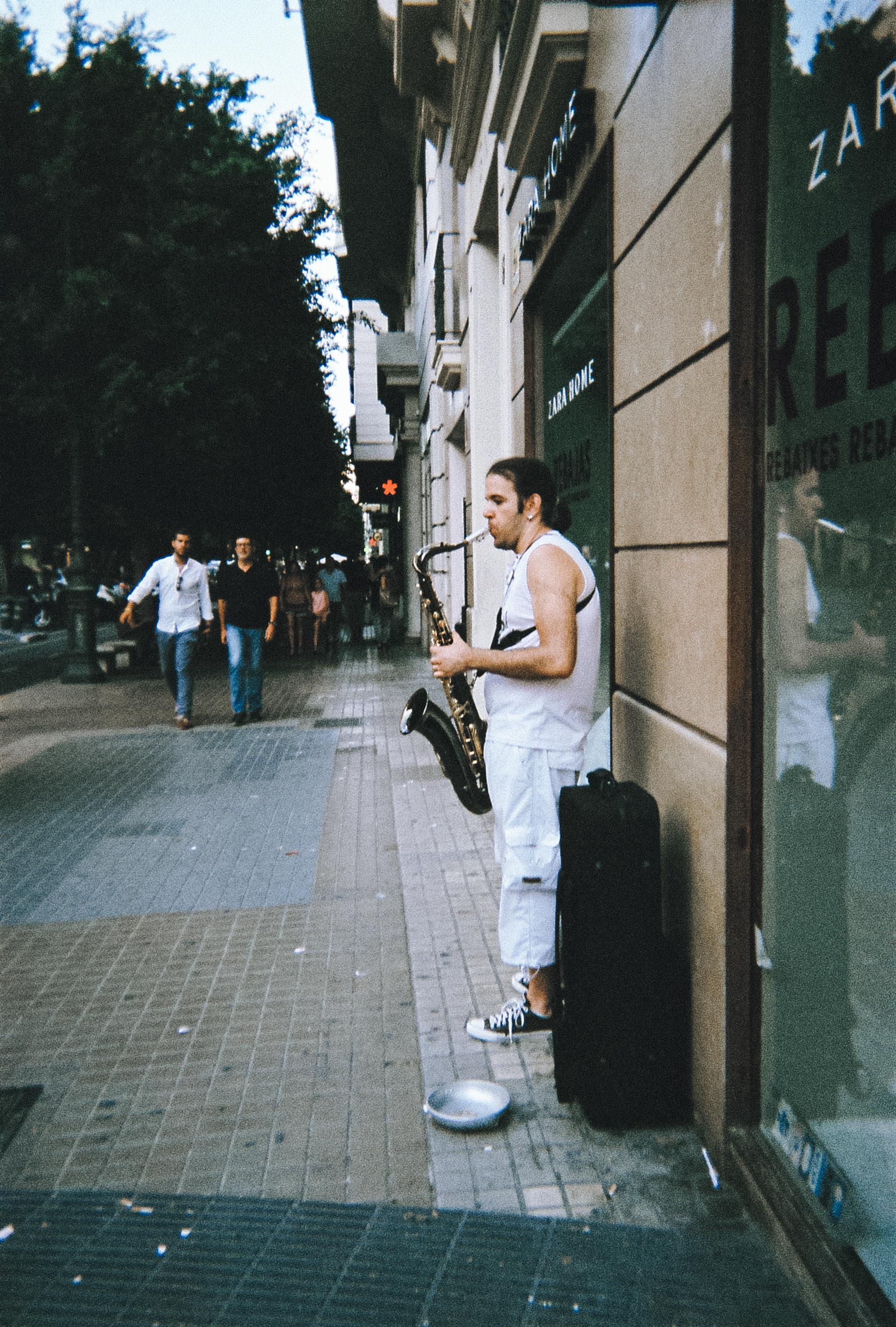 Street musician in Valencia, Spain