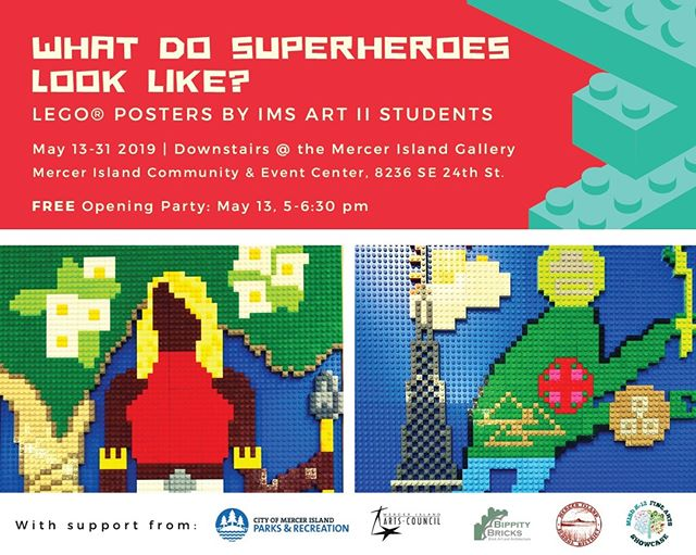 We've got another exhibition of our LEGO posters. Come see what happens when middle school kids, superheroes, social justice, and LEGO bricks get mixed up together. . . #legoarchitectureideabook  #lego #afol  #womensbrickinitiative #wafol
