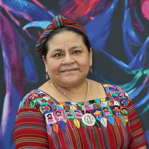 Rigoberta Menchú Tum is a K'iche' Maya woman from Guatemala. Rigoberta spoke out against mass atrocities committed by the Guatemalan government during the civil war from 1960 to 1996, but she was forced into exile in 1980. Due to her persistent advocacy and her memoir  I, Rigoberta Menchú , she was awarded the 1992 Nobel Peace Prize.