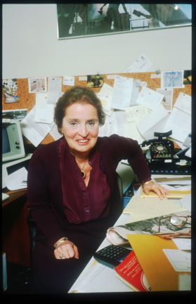 Albright in her office at Georgetown (Diana Walker/Liaison)