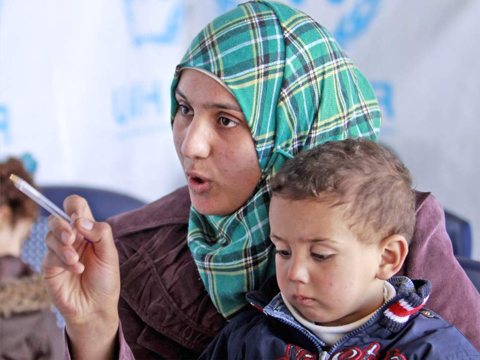 Bushra with her son (AP)