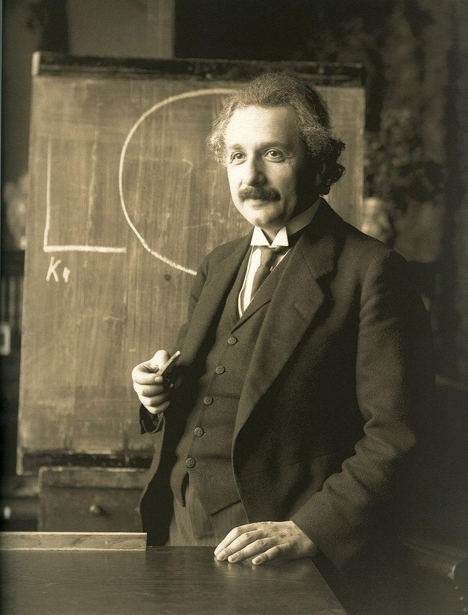 Einstein during a lecture in Vienna in 1921 (Ferdinand Schmutzer / National Library of Austria)