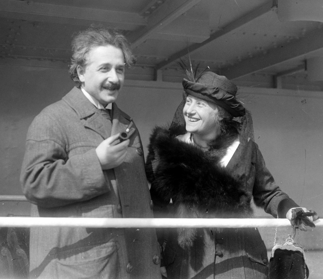 Einstein with his wife Elsa in 1921 (George Grantham Bain collection at the Library of Congress)