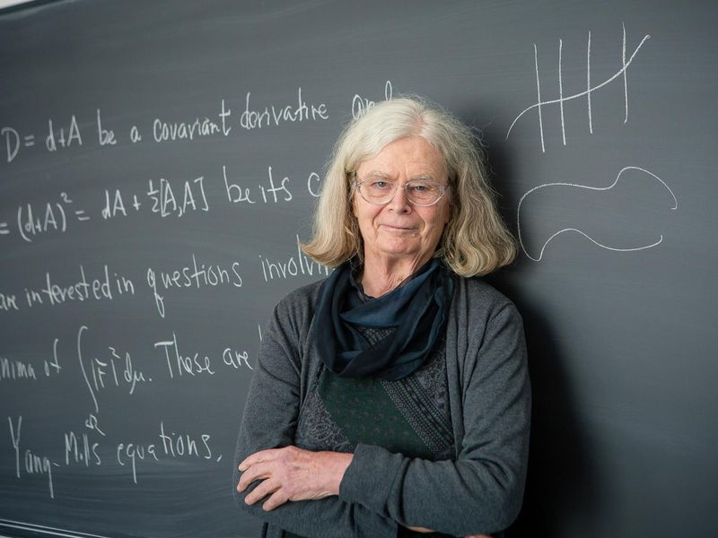 She's an American mathematician renowned for her work on geometric analysis and gauge theory. In 2019, she was the first woman to win the Abel Prize for her work on geometry and minimal surfaces.