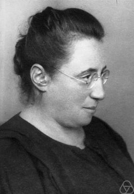 Emmy was a famous German Jewish mathematician, called the most important woman in the history of mathematics by people such as Einstein. She had to leave her teaching position in Germany when Nazis came to power and banned Jewish people from holding university positions. She ended up teaching at Bryn Mawr College. Noether's work influenced mathematics and theoretical physics.