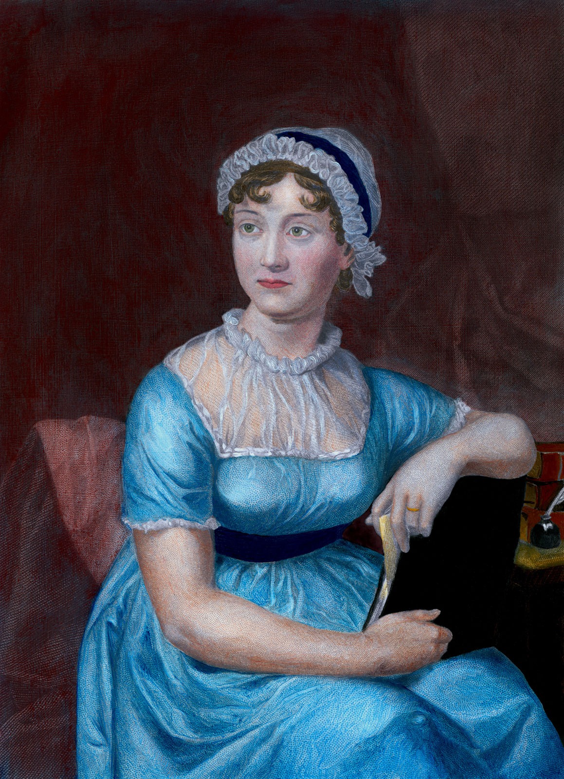 She was a famous 19th century novelist whose work remains popular to this day. Austen's novels were successful enough to give her some independence, but her works were not associated with her name until after her death.