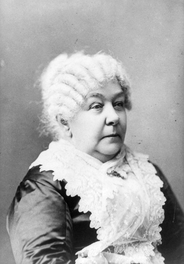 """Elizabeth Cady Stanton presented her """"Declaration of Sentiments"""" at the Seneca Falls Convention in 1848 and is often credited with launching the American women's suffrage movement. She also advocated for women's issues beyond voting, such as property, divorce, and birth control. Although she was originally an abolitionist, she refused to support citizenship and voting rights for African Americans."""