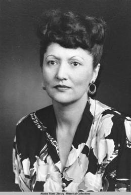 Elizabeth Peratrovich was key figure in the civil rights movement for Alaskan Natives. A Tlingit woman, she advocated for the passage of the first anti-discrimination law in the US, Alaska's Anti-Discrimination Act of 1945, which banned the segregation of Alaska Natives.