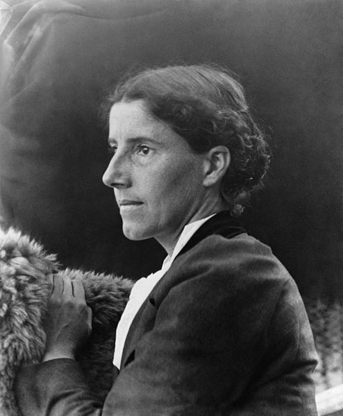 """Gilman was a prominent feminist writer in the late 19th and early 20th centuries. She most famously wrote """"The Yellow Wallpaper,"""" which discusses depression and women's lack of autonomy. She divorced her first husband, unusual in her time, and was a lifelong advocate of social reform."""
