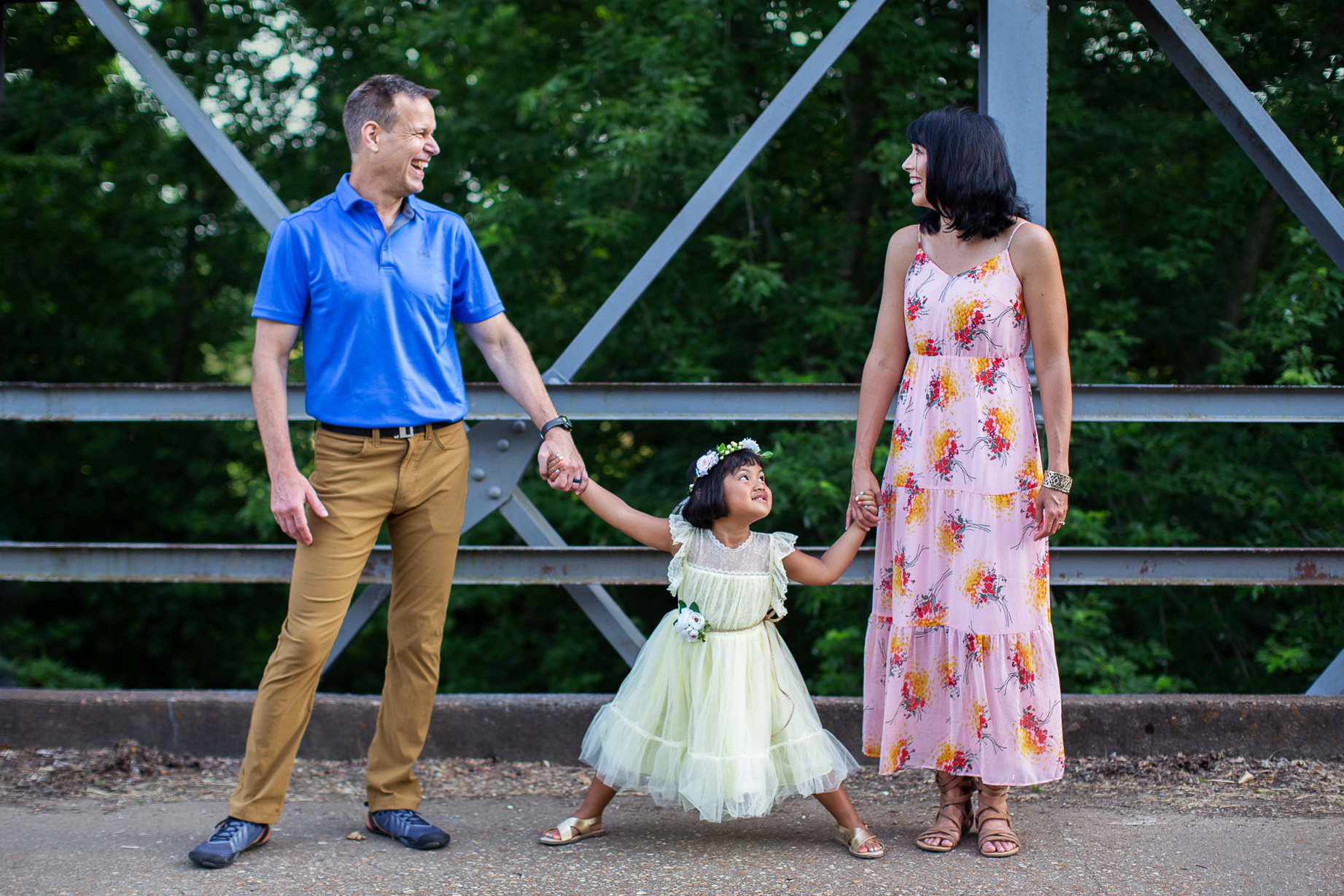 One of my favorite places for a family session— the bridge near Baldwin Baptist Church — as seen on True Detective, Season 3! Of course, this has been a long standing go-to for area photographers in Northwest Arkansas, and it's no secret why. The rustic iron and chipped concrete give this location just the right mix of charm and history.