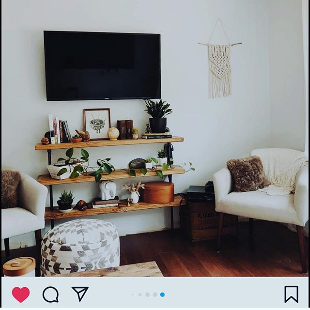 Looking for a minimalist way of displaying your plants/components/treasures? This beautiful 3-shelf unit finished off this customer's remodel in a beautiful way! Link to shop in bio.