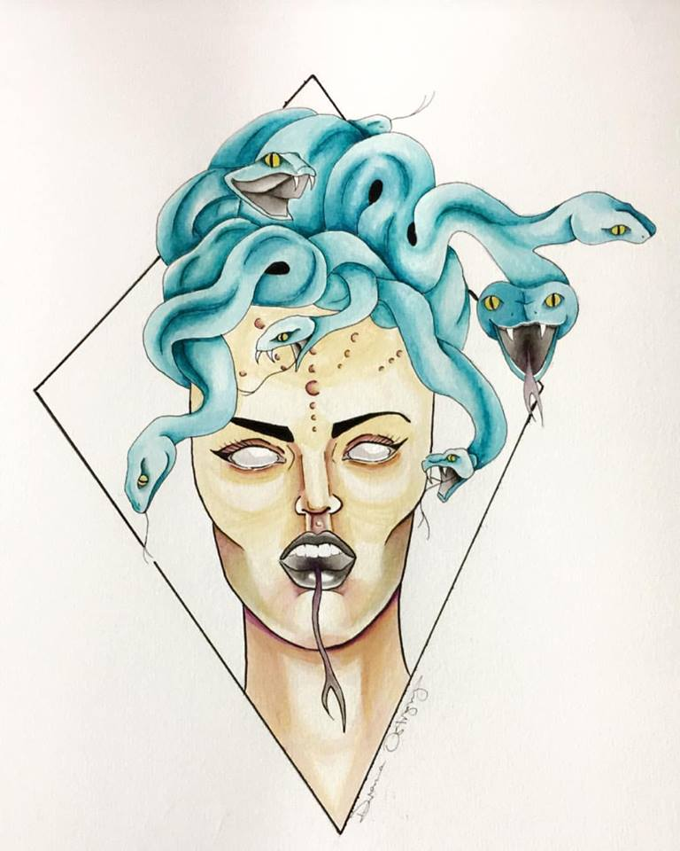 Neo-Traditional Medusa
