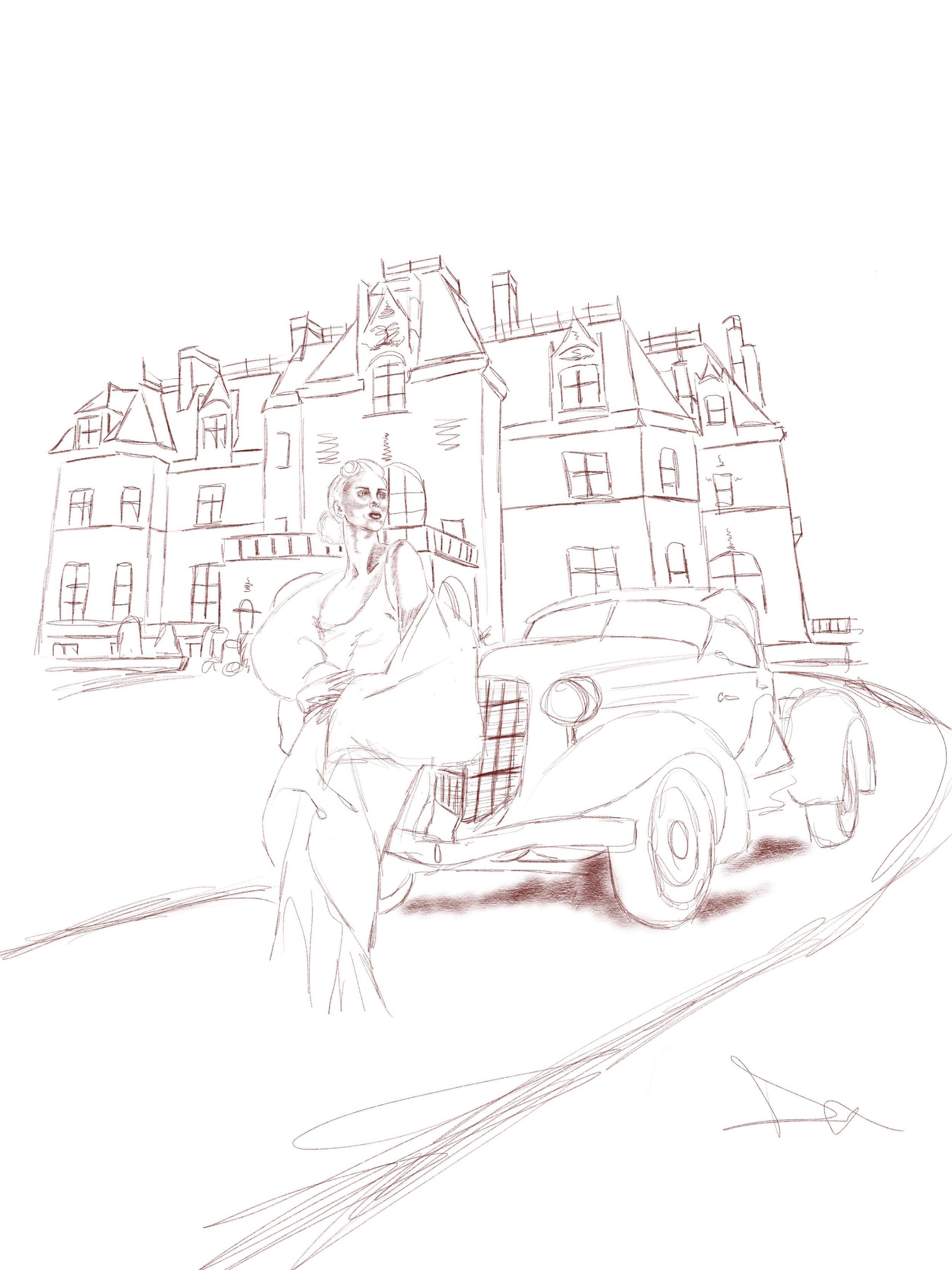 Gala Card Rough Sketch