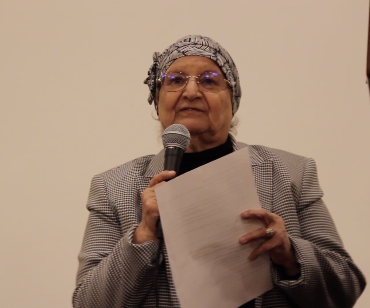 Longtime activist Fadwa Naji speaks about her work with the late Miriam Zayed.