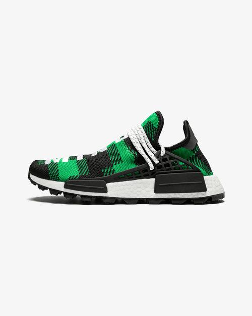 "hot sale online 9471f cc066 Pharrell Williams x BBC x adidas NMD Hu ""Green Plaid"" — Dope Evolution"