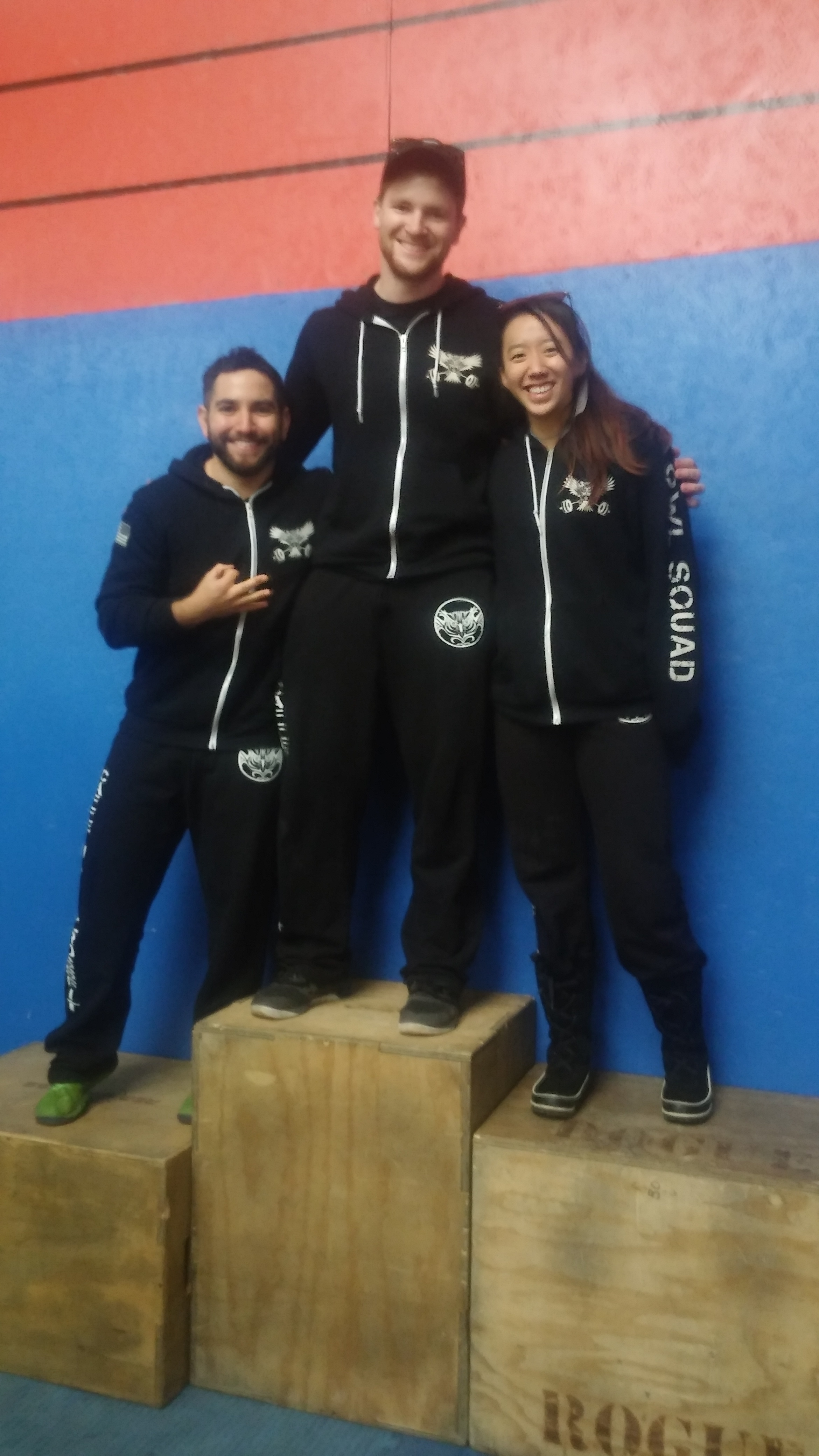 Caffeinated CrossFit at the Reindeer Games Podium