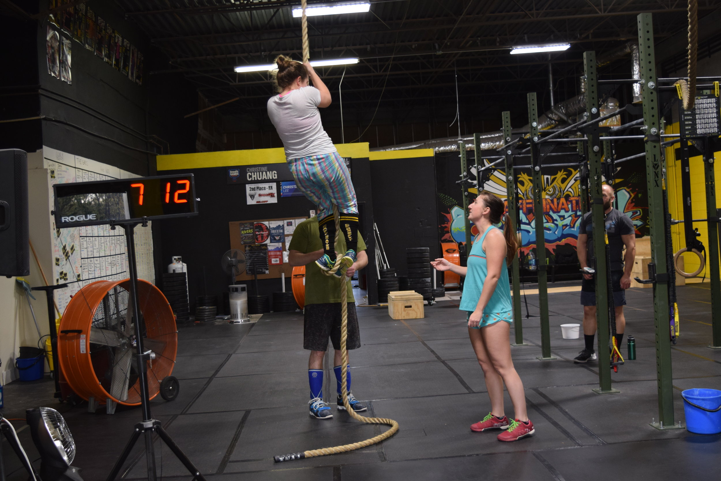 Leland's first rope climb!