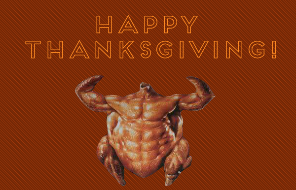 We Are Closed Today! Happy Thanksgiving!