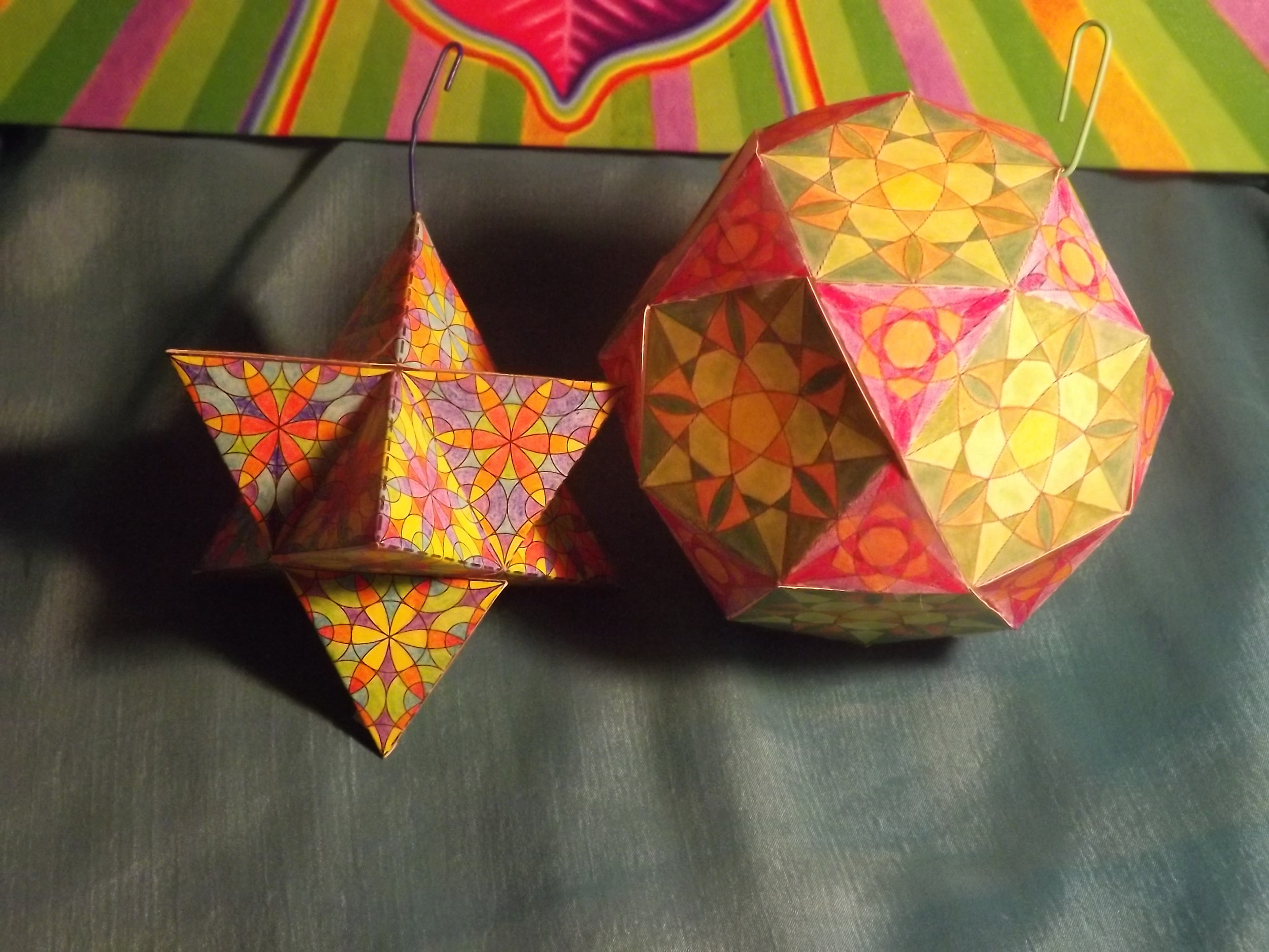 COLOR IN, FOLD UP, 3D ORNAMENTS