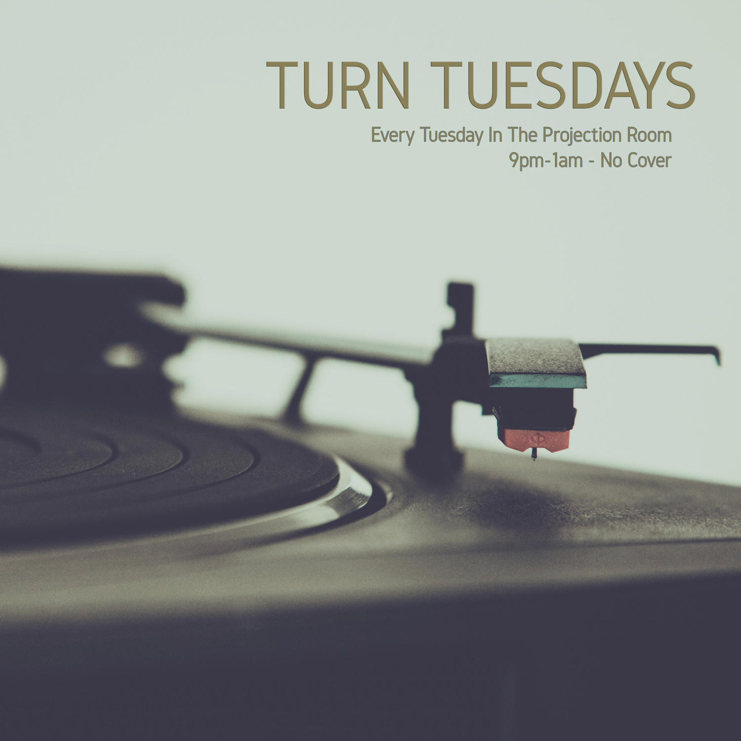 Tuesday Nights - TURN: Bring your Own Vinyl PartyEvery week Adam Fink + Bryan Sea host an open mic style DJ platform where you bring your own records and share some of your favourite tunes with other vinyl lovers. All of the necessary equipment will be at the bar. Just be sure to bring yourself and a handful of your favourite vinyl records! Wanna guarantee yourself a spot behind the tables? Email us at turn@foxcabaret.com to book a spot during one of our free play hours.9pm —1am in The Projection Room   FreeSponsored by Ignite Pizzeria