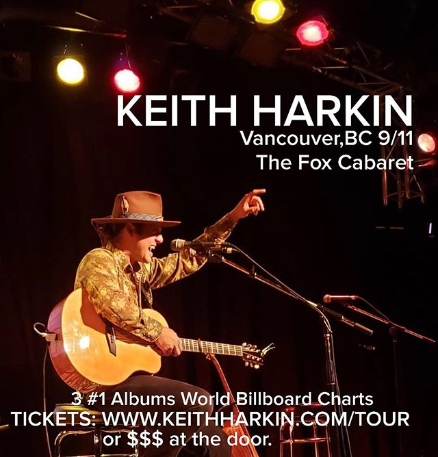 Get your tix for the fantastic @keithharkin with @joeyharkum tomorrow night! Doors at 7:00 💫 tix: keithharkin.com/tour