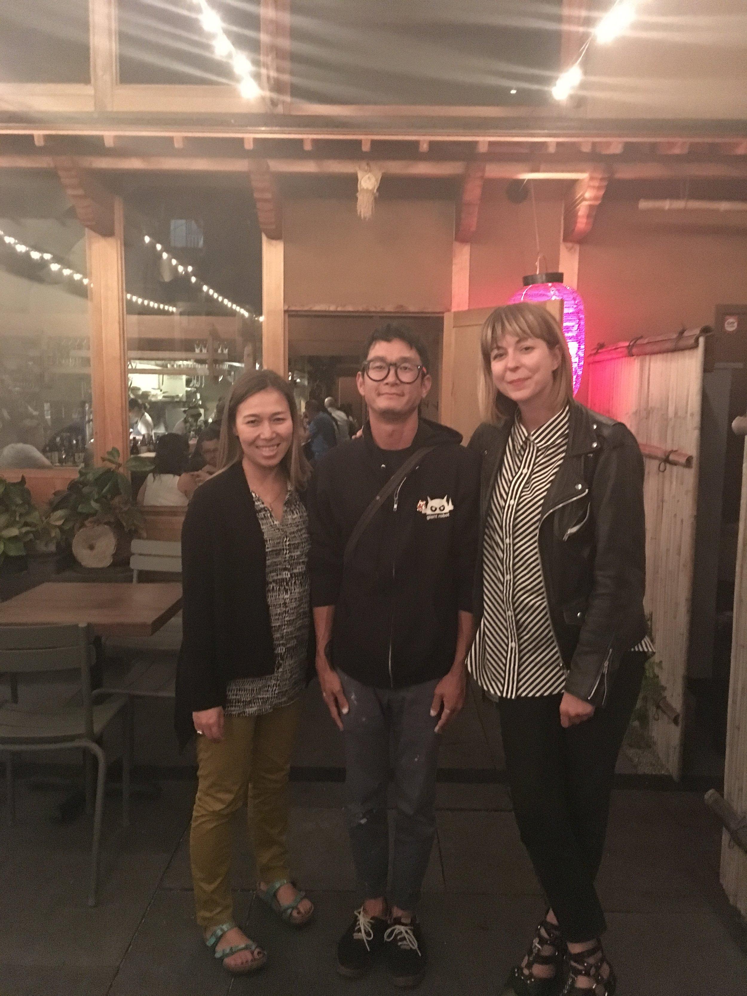 Kaoru, Yoskay & Sara @ Izakaya Rintaro, SF, summer 2017