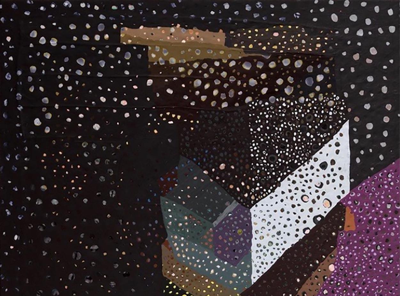 "Sydney Cohen, ""Binocular 400,"" 2017, acrylic on wood"