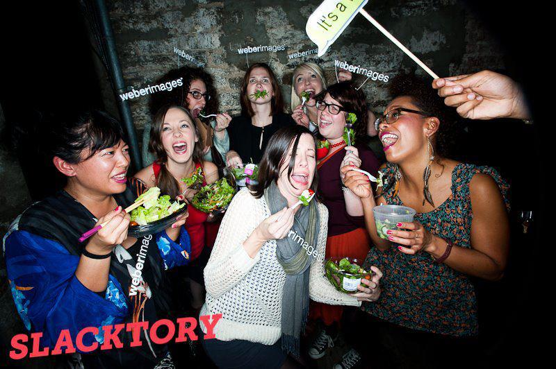 """""""Women Laughing Alone (Together) With Salad"""", Hallowmeme 2011."""