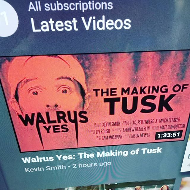 I know what I'm doing with my afternoon... #horror #horrorfans #tusk #walrusyes #justinlongisawalrus