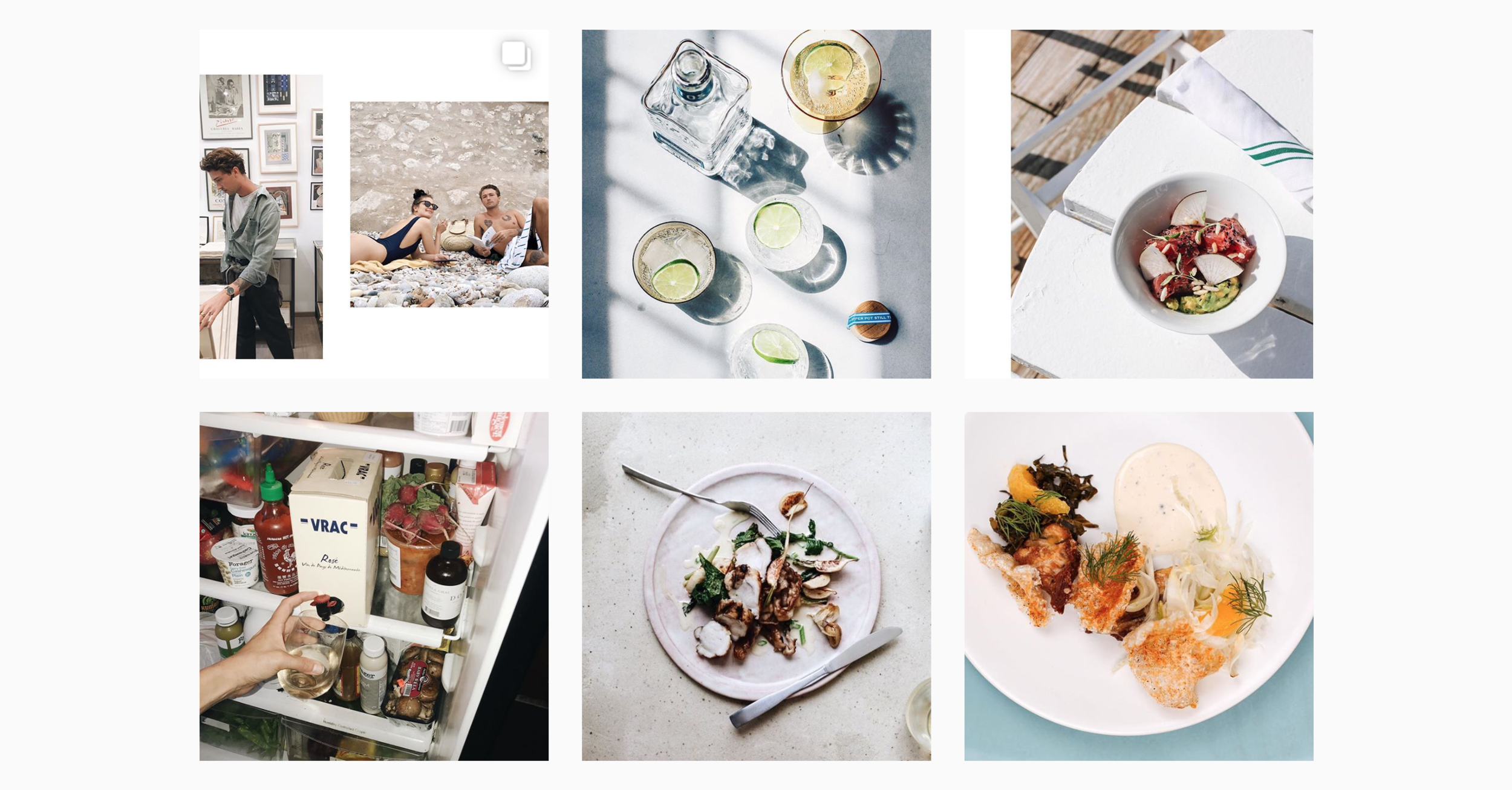 in case you can't tell by this screenshot from her feed, I have been  living  for Samantha's photos as of late. I absolutely love her unique style of shooting food photography, from  playing around with shadows  to making the  seemingly mundane of moments  oh-so-interesting. whether or not you're a foodie, I highly recommend you give her a follow, just for the fact that her feed is oh-so-easy on the eyes. (also, check out her  blog .)