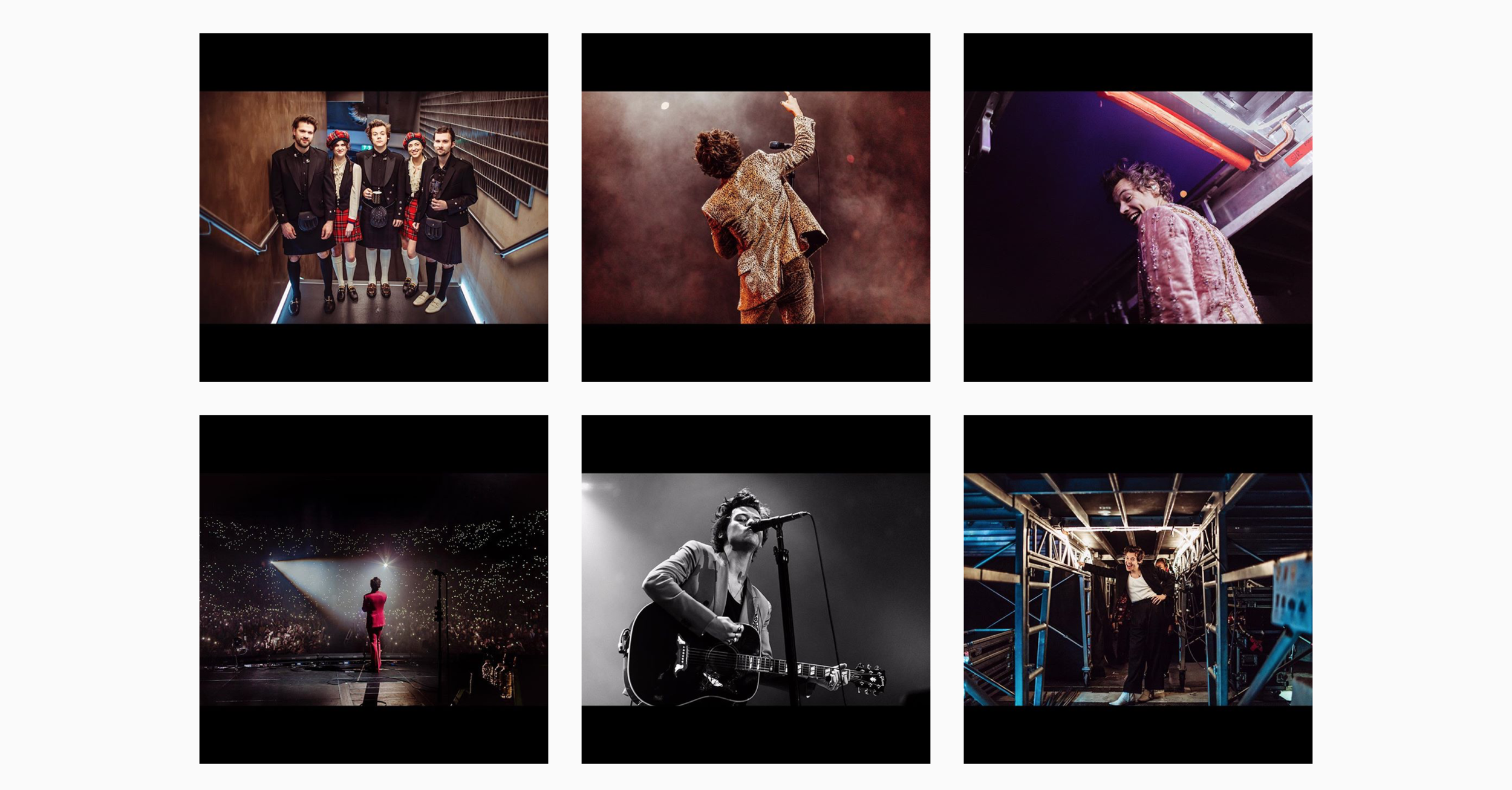 tbh, if you didn't see this coming,  well then, idk. but this post would be incomplete without mentioning my guy. major props to another one of my favorite photographers, queen  Hélène pambrun for capturing harry's tour so impeccably. every single photo from this tour is filled with so much emotion, my heart quite literally jumps seeing such beautiful artistry featuring such a beautiful king. harry is currently on hiatus (ha) but I know that there will be a continuation of quality content coming in soon. i'm ever so grateful for his  goodbye post , though. kissy.