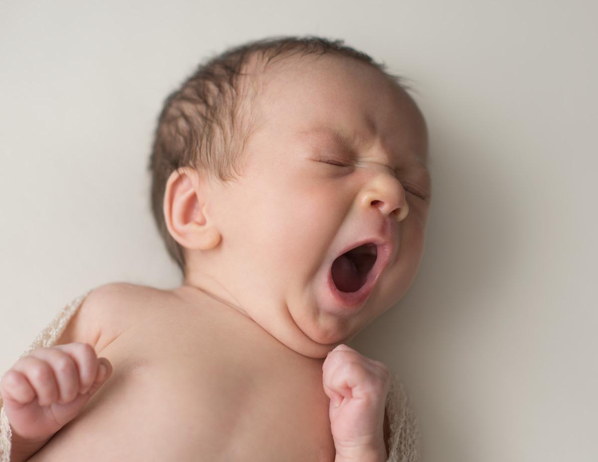 Preemie Newborn Yawning