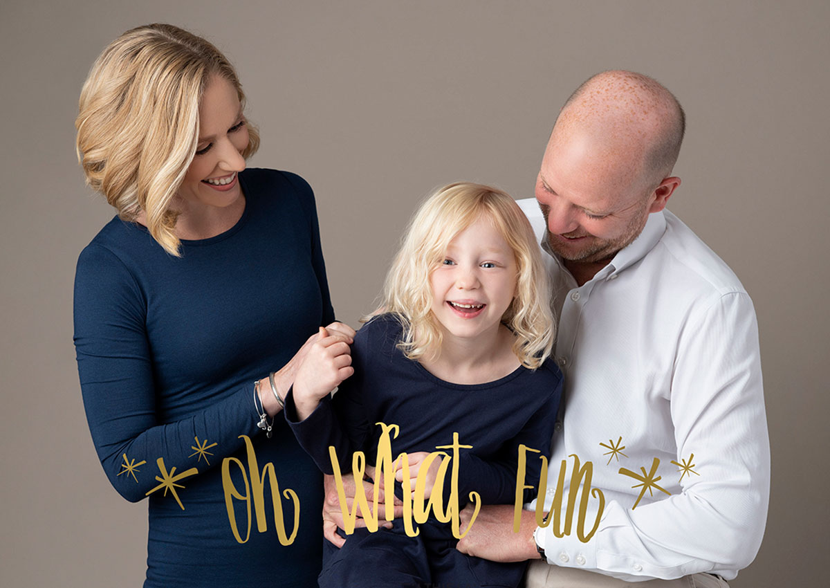 Family portrait holiday card