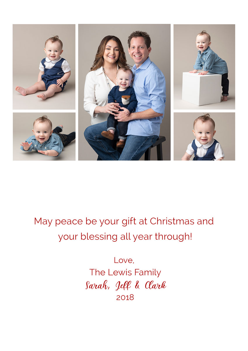 Family portrait Christmas card layout