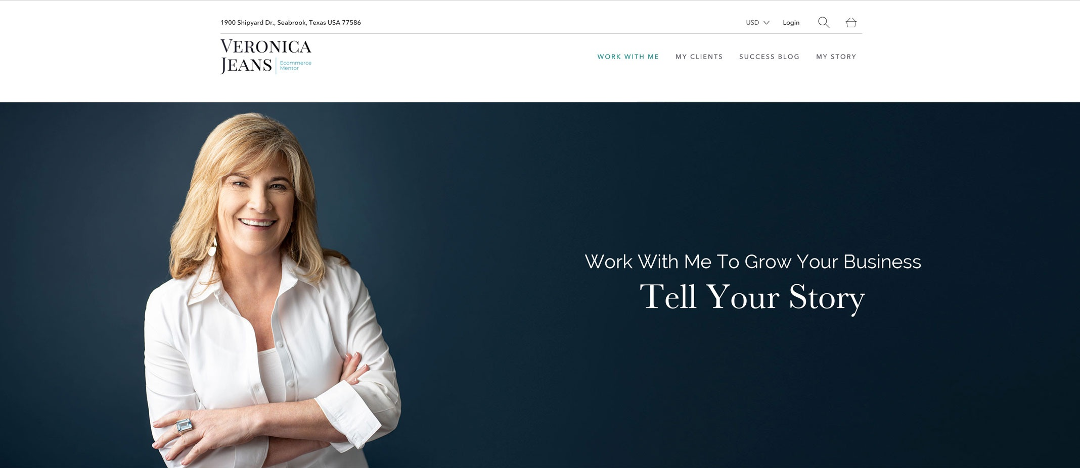 Website banner for personal branding