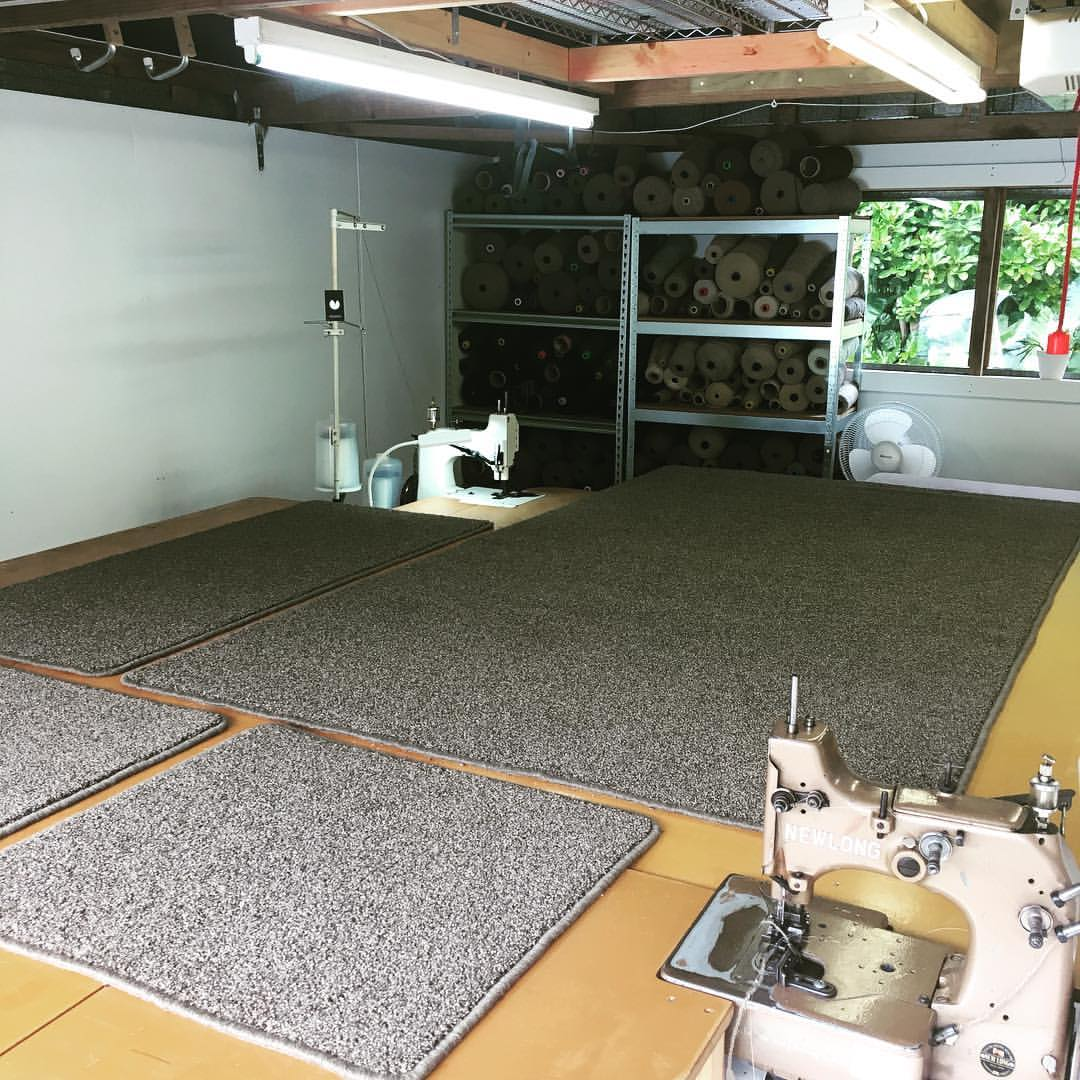 Get max value from money spent on new carpet by utilising your new carpet remnants for custom made mats