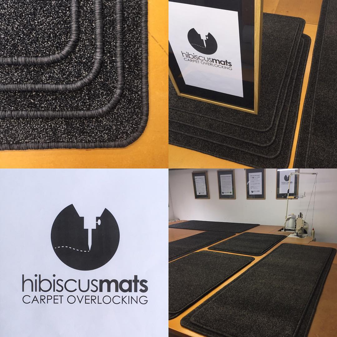 Set of 9 Home Interior Mats edged in Charcoal