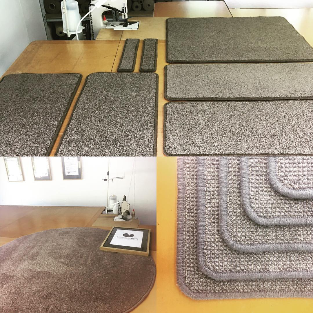 Various examples of custom made Home Interior Mats by Hibiscus Mats Carpet Overlocking