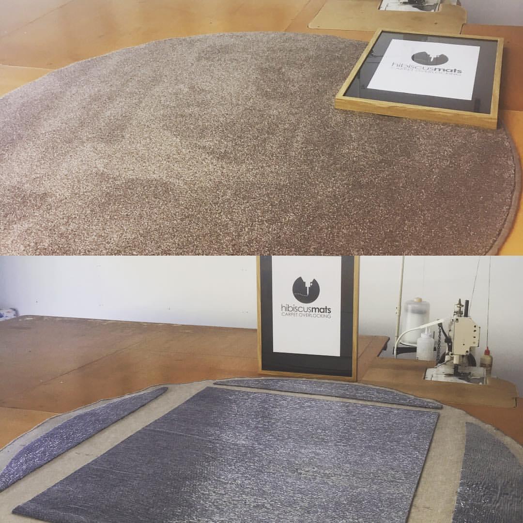Circular Home Interior Mat custom edged & gripped for children's playroom