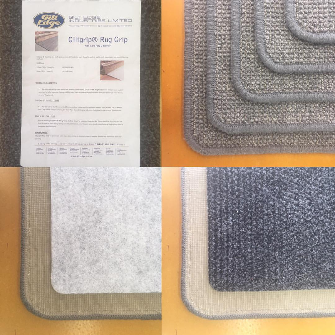 Hibiscus Mats recommends Gilt Edge Rug Grip to prevent mat slippage