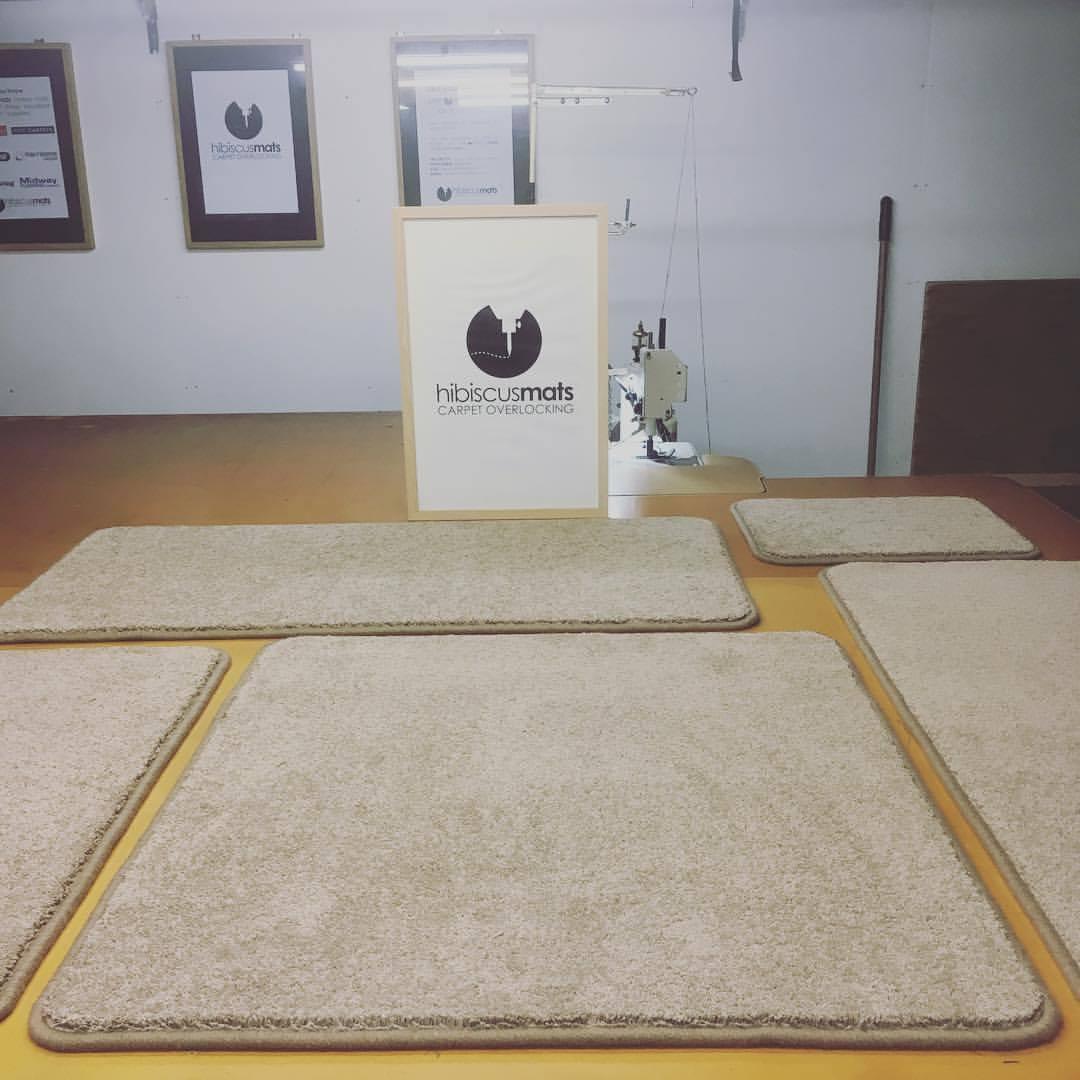 Carpet mats edged by Hibiscus Mats Carpet Overlocking