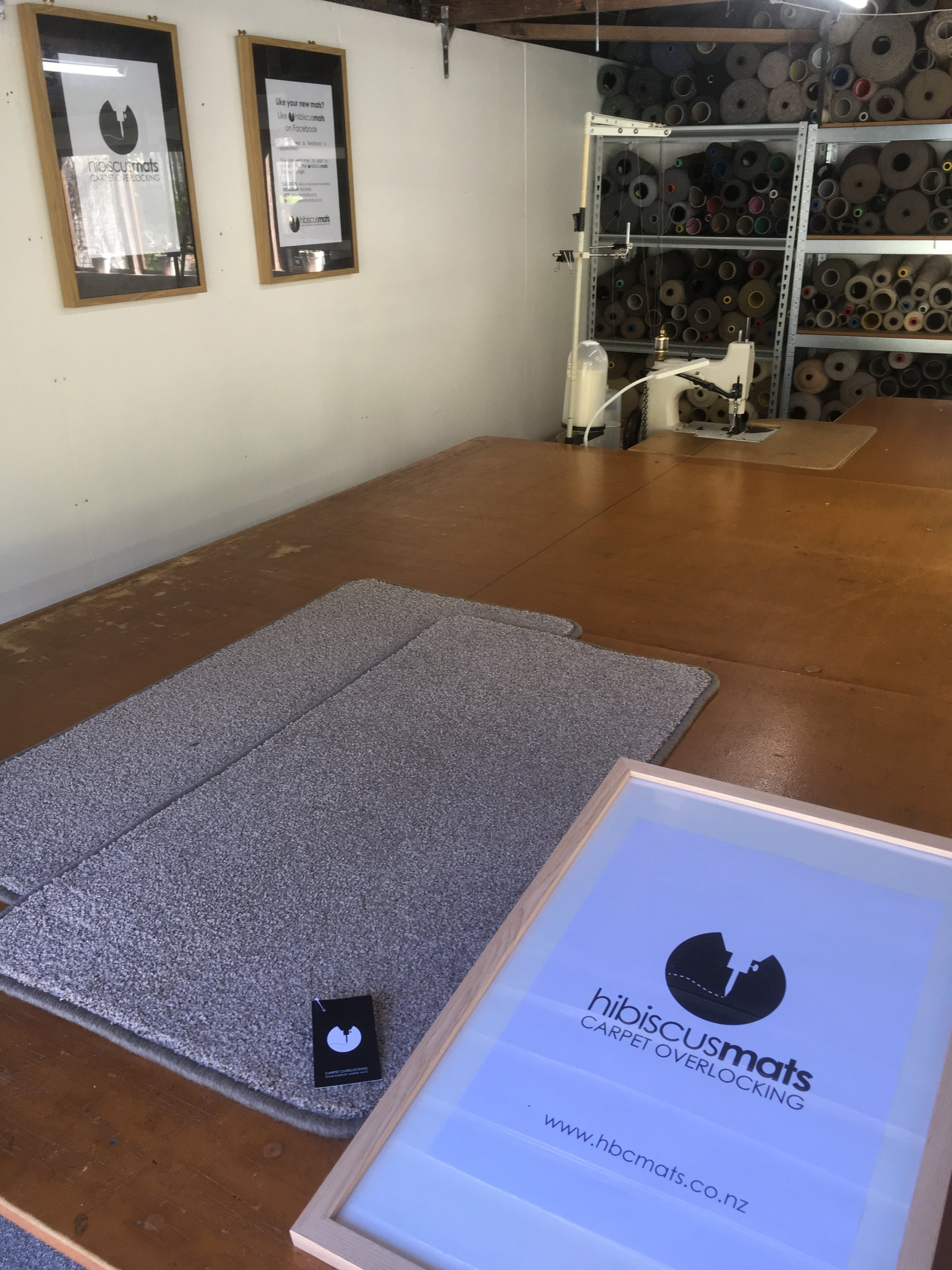 Carpet Mat 1.00m x 0.50m by Hibiscus Mats Carpet Overlocking $25 - - Measures 1.00m x 0.50m- Colour: Taupe- Rounded corners to prevent curling- Can be gripped with Giltgrip Rug Grip for an additional fee