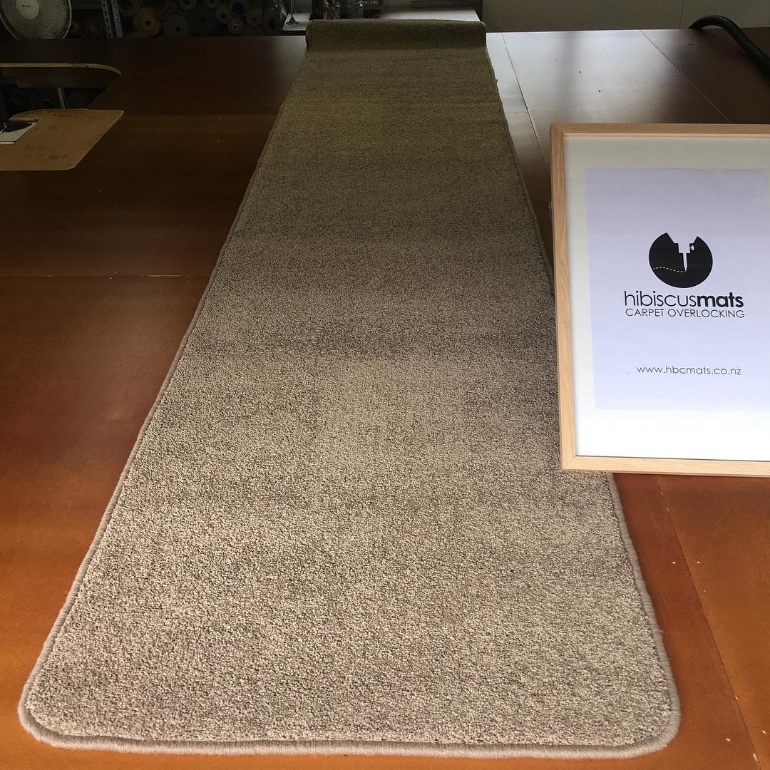 Need a Hallway Runner?  Hibiscus Mats Carpet Overlocking can help