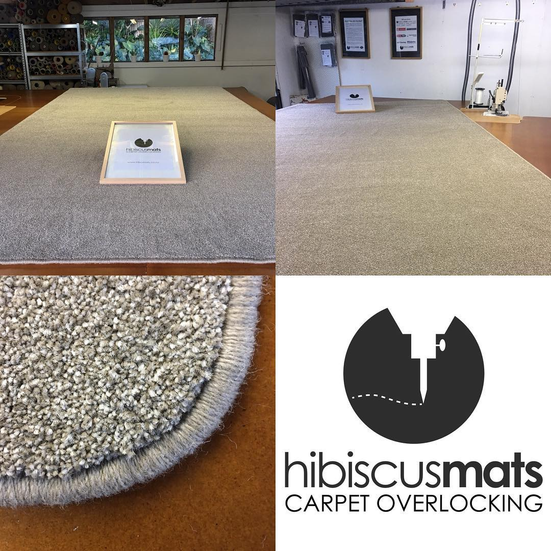 Large Carpet Mat cut & edged by Hibiscus Mats Carpet Overlocking