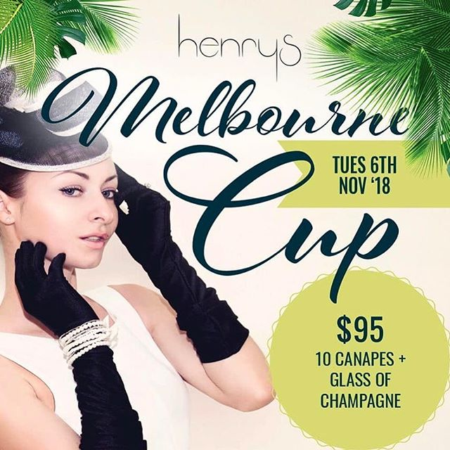 Book now for Melbourne Cup at Henrys featuring lucky door prizes, sweepstakes and of course, the race. $95pp for champagne on arrival and 10 exquisite canapés.  #cronulla #cronullabeach #melbournecup