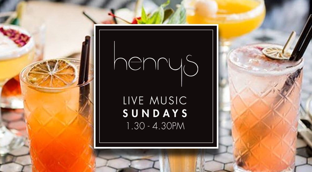 Join us at Henry's Cronulla this Sunday! LIVE MUSIC, great food and cocktails set the vibe every Sunday for the perfect chilled afternoon. It's the perfect place to catch up with friends. Henry's open from 12pm. Live Music 1.30 - 4.30pm. Book your table now... CALL 9527 0305. Or book online at  https://www.henryscronulla.com.au/reservations