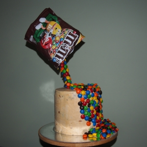 My dad's birthday cake and my first gravity defying cake :)