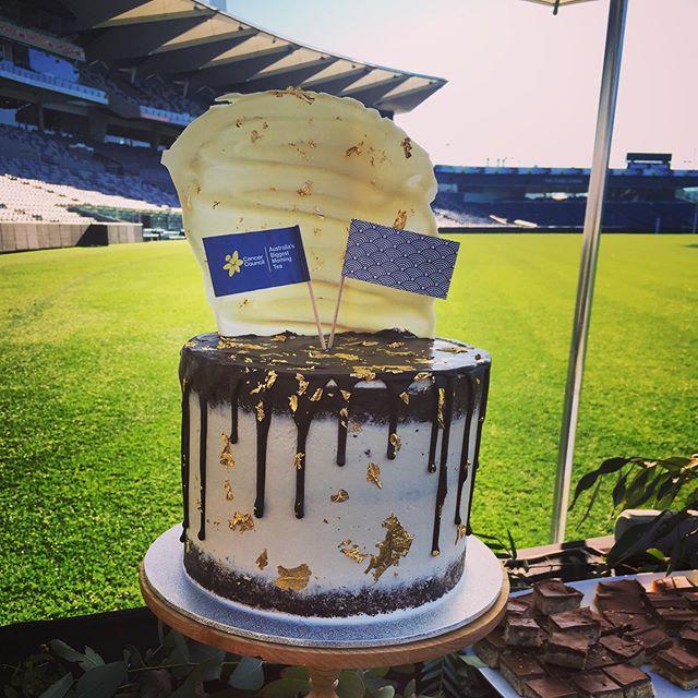 Barrabool Baker cake for the @kardiniapark #biggestmorningtea on the hallowed turf :) #thebarraboolbaker #gmhbastadium #geelongcakes